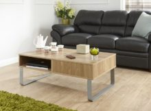 coffee tables Uk modern walnut with metal legs