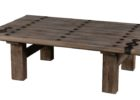 country narrow coffee table with storage