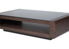 dfs glass coffee table with black solid oak wood