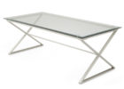 dfs glass coffee table with simple x metal legs