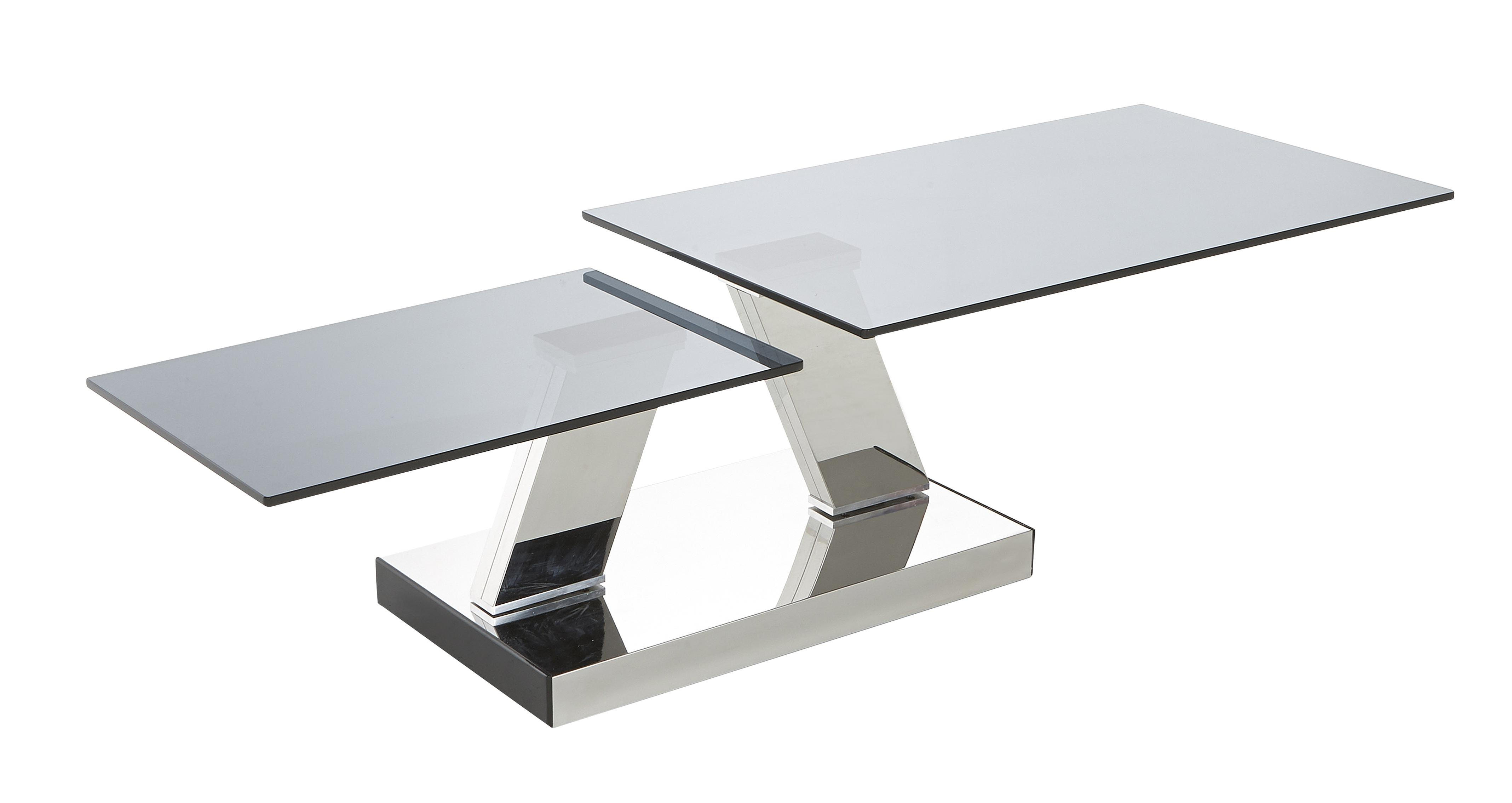 Dfs Glass Coffee Table With Unique Metal Legs Design