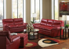 formal red leather living room sets