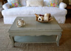 french style shabby chic coffee table decor