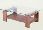 furniture village glass coffee table with oak wooden legs