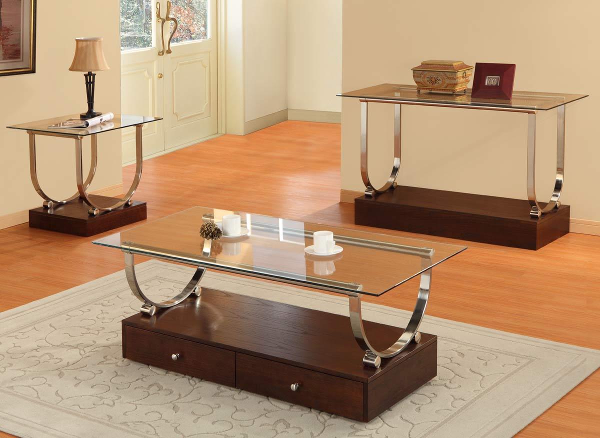 glass on top coffee table sets walmart