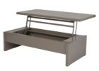 grey lift top narrow coffee table with storage