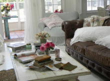 how to create ivory shabby chic coffee table