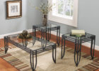 inexpensive coffee tables with black metal legs