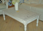 large ivory shabby chic coffee table