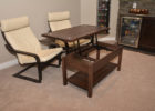 lift top cribbage board coffee table