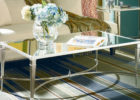 mirrored coffee table set with metal legs ideas