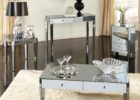 mirrored coffee table set with storage