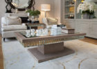 mirrored coffee table tray design