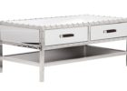 mirrored coffee table tray with drawers
