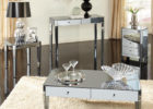 mirrored coffee table tray with storage
