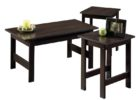 modern black cheap end tables and coffee table sets