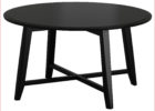 modern black round wooden coffee table Ikea Uk