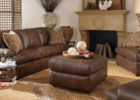 modern brown leather living room sets