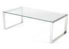 modern furniture village glass coffee table with metal legs