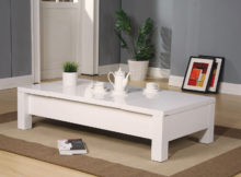 modern low white gloss coffee table Ikea