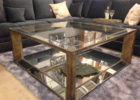 modern mirrored coffee table tray ideas