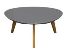 modern retro grey gloss coffee table with wooden legs