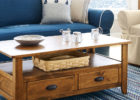 modern solid wooden oak furniture land coffee tables with storage ideas