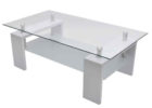 modern square white gloss coffee table Ikea with glass on top