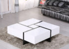 modern unique white gloss coffee table with storage