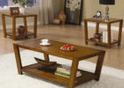 modern wooden coffee table sets walmart