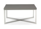 modern wooden grey gloss coffee table with metal legs