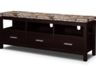 narrow coffee table with storage with marble on top
