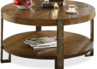 narrow coffee table with storage with rustic metal legs