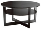 oak coffee table argos with black round solid wood