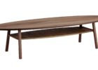 oval average coffee table size