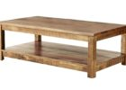 rectangle wood average coffee table size