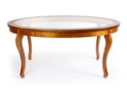 round average coffee table size with copper legs
