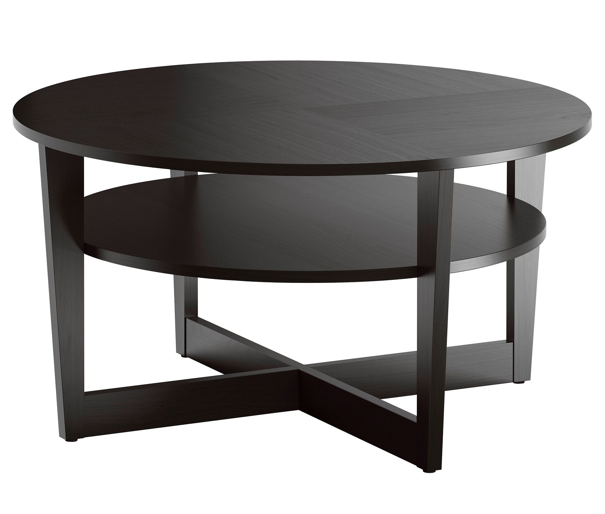 round average coffee table size