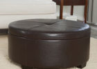 round black leather coffee tables Uk