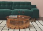 round metal copper coffee tables Uk