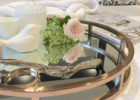 round mirrored coffee table tray