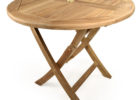 round oak wood fold up coffee table