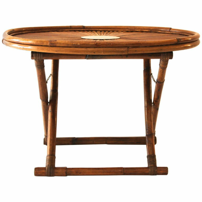 round rattan fold up coffee table for traditional small living room