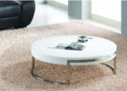 round white gloss coffee table Ikea with metal legs