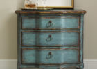 rustic blue living room chest cabinet with storages