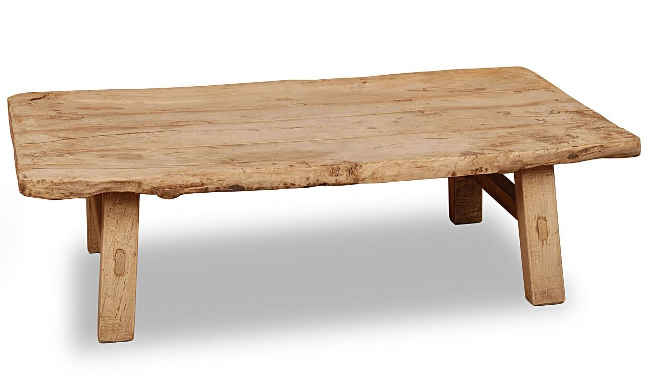 rustic coffee table from oak reclaimed wood