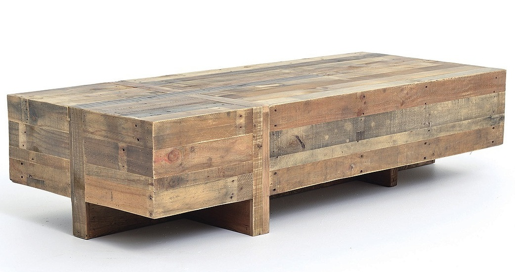 rustic coffee table from reclaimed wood