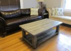rustic coffee table from wood pallet
