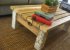 rustic coffee table handmade from reclaimed wood