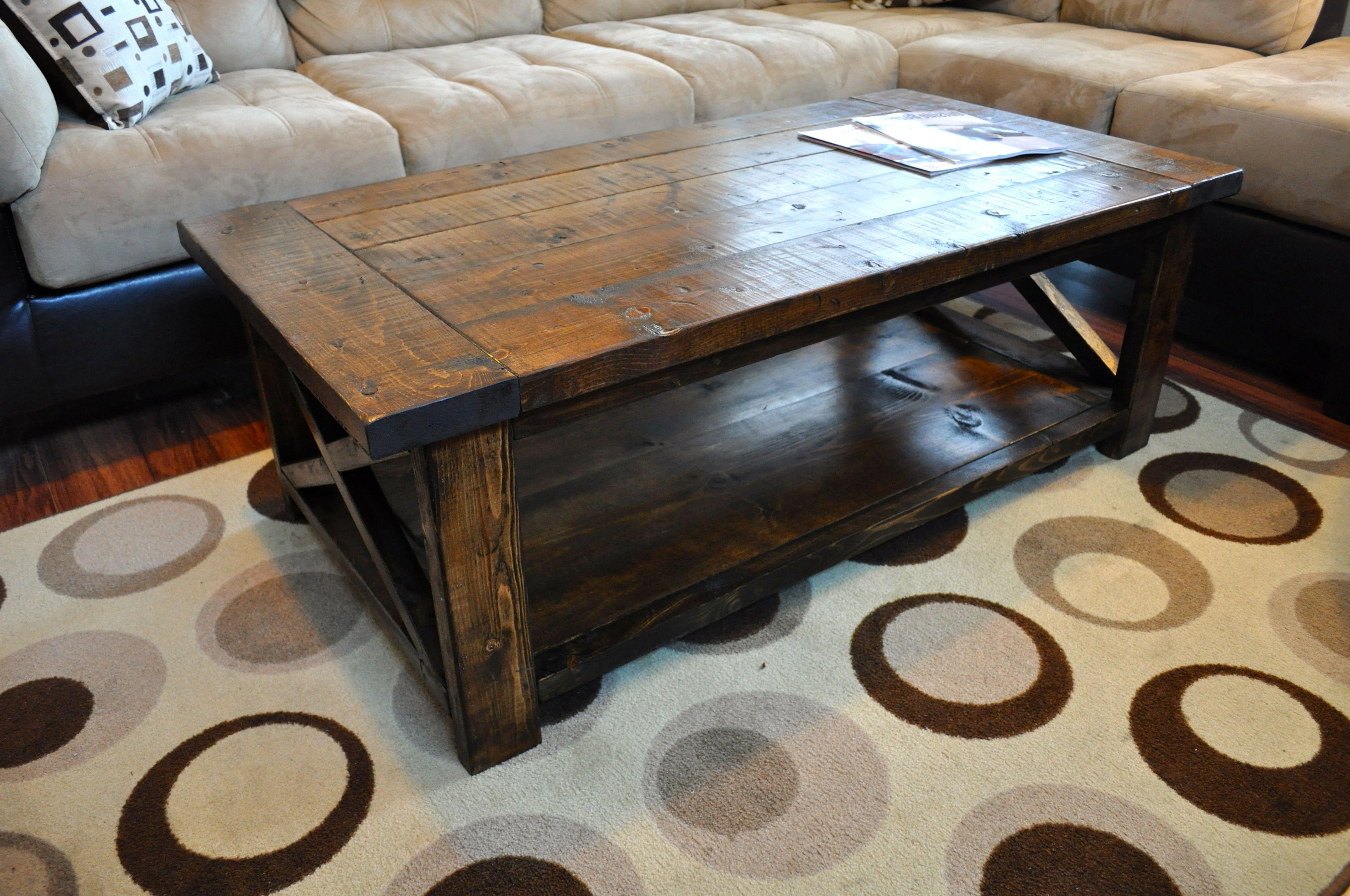 rustic coffee table solid reclaimed wood pallet